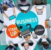 Les affaires commencent le concept d'entreprise d'occasion de lancement Photo libre de droits