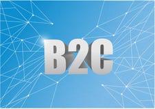 les affaires de b2c aux clients signent plus d'un bleu Image stock