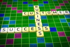 Les affaires de clients de succès de mots croisé d'affaires aranged d'une manière de mode Photographie stock
