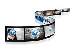 Les affaires filment le ramassage Image libre de droits