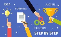 Les affaires font un pas concept illustration stock