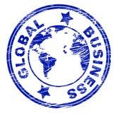 Les affaires globales indiquent d'entreprise et mondain commerciaux Photo libre de droits