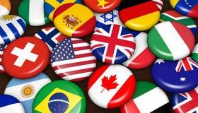 Les affaires internationales Badges le concept Photos libres de droits