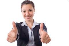 les affaires manient maladroitement vers le haut de la femme Photo stock