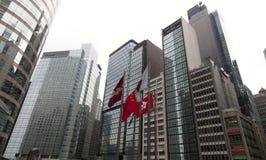 Les affaires modernes et la place financière Hong Kong Photo libre de droits