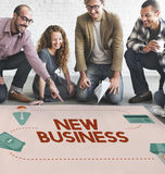 Les affaires nouvelles commencent le concept de vision d'idées originales Photos stock
