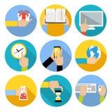 Les affaires remettent des icônes Image stock