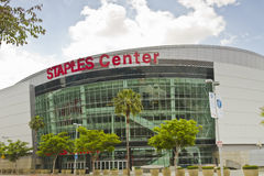 Les agrafes centrent à Los Angeles du centre Images libres de droits