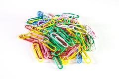 Les agrafes colorées Images stock