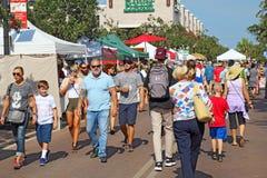 Les agriculteurs lancent sur le marché à Sarasota du centre, la Floride Photos libres de droits