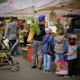 Les agriculteurs lancent sur le marché, Temecula, la Californie Photos stock