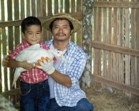 Les agriculteurs thaïlandais prennent soin de la production agricole photos stock