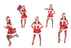 Les aides sexy de Santa images stock