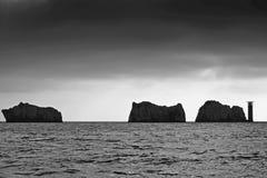 Les aiguilles, île de Wight photographie stock libre de droits