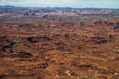 Les aiguilles de la terre de canyon vues des aiguilles donnent sur Photos stock