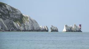Les aiguilles sur l'île du Wight Image libre de droits