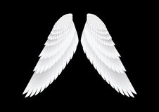 Les ailes de blanc de vecteur Photos libres de droits