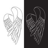 Les ailes de blanc de vecteur Images stock