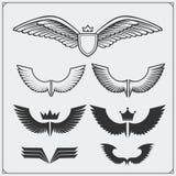 Les ailes ont placé Éléments de conception Illustration de vecteur Photo libre de droits
