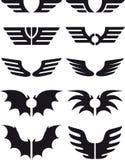 Les ailes ont placé 02 Images libres de droits
