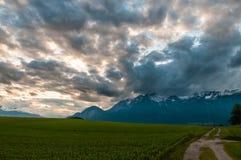 Les Alpes autrichiens près d'Innsbruck image stock