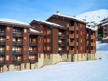 Les2Alpes ski resort town and slopes, France Stock Photos