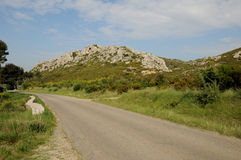 Les Alpilles in Provence Stock Photo