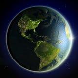 Les Amériques de l'espace Photographie stock libre de droits