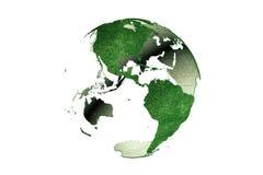 Les Amériques sur le globe herbeux de la terre Photos stock