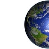 Les Amériques sur le modèle réaliste de la terre Photo stock
