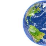 Les Amériques sur terre de planète illustration de vecteur