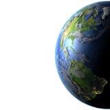 Les Amériques sur terre de planète Images stock