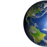 Les Amériques sur terre de planète illustration stock