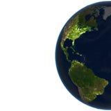 Les Amériques sur terre de planète Photographie stock