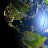 Les Amériques sur terre de planète Image libre de droits