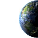 Les Amériques sur terre - fond océanique évident Image stock