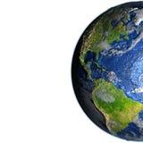 Les Amériques sur terre - fond océanique évident Images stock
