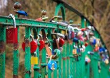 Les amants jettent un pont sur dans Szczecin Photos libres de droits