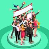 Les ambitions ambitieuses de carrière du changement 17 d'affaires dirigent le concept Photographie stock libre de droits