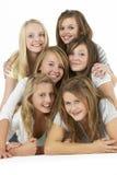 les amies groupent d'adolescent Photos libres de droits