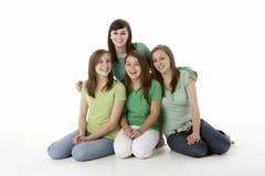 les amies groupent d'adolescent Photo libre de droits