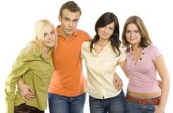 les amis groupent d'adolescent Photos stock