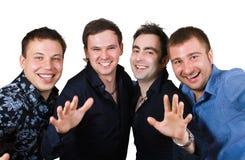 les amis groupent le sourire Photographie stock libre de droits