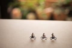 Les amis sont en voyage de vélo Image libre de droits