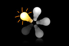 Les ampoules incandescentes Image libre de droits