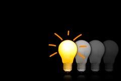 Les ampoules incandescentes Image stock
