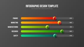 Les analytics d'entreprise constituée en société rapportent la disposition de conception horizontale d'histogramme Illustration de Vecteur