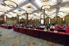 Les anciennes élèves d'université de Nanyang sont venues à Xiamen pour commémorer M. chen liushi Photographie stock