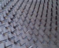 Les ancres à chaînes ont soudé dans une coquille de four rotatoire Photo stock