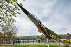 Les Andelys, Normandië Frankrijk - 3 Mei 2013: een Luchtspiegeling F1 van Norm stock fotografie
